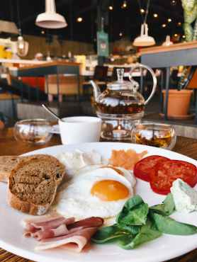 photo of breakfast meal on plate